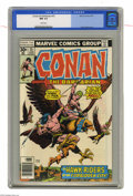 Bronze Age (1970-1979):Miscellaneous, Conan the Barbarian #75 (Marvel, 1977) CGC NM 9.4 White pages.Ernie Chan cover. John Buscema art. Overstreet 2004 NM- 9.2 v...