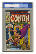 Bronze Age (1970-1979):Miscellaneous, Conan the Barbarian #76 (Marvel, 1977) CGC NM 9.4 White pages. GilKane cover. John Buscema art. Overstreet 2004 NM- 9.2 val...