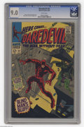 Silver Age (1956-1969):Superhero, Daredevil #31 (Marvel, 1967) CGC VF/NM 9.0 White pages. Gene Colan cover and art. Overstreet 2004 VF/NM 9.0 value = $40; NM-...