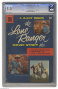 Silver Age (1956-1969):Adventure, Dell Giant Comics Lone Ranger Movie Story (Dell, 1956) CGC VG/FN 5.0 Cream to off-white pages. Tom Gill art. Photo cover. Ov...
