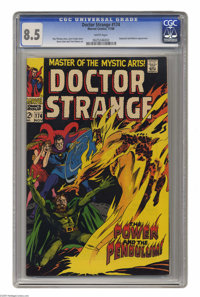 Doctor Strange #174 (Marvel, 1968) CGC VF+ 8.5 White pages. Satannish and Nekron appearance. Gene Colan cover and art. O...