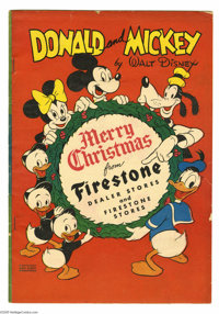 """Donald and Mickey Merry Christmas 1946 (K.K. Publications, 1946) Condition: VG. Donald Duck in """"Santa's Stormy Visi..."""