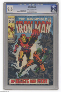 Iron Man #16 (Marvel, 1969) Condition: CGC NM+ 9.6 Cream to off-white pages. Nick Fury appearance. George Tuska and John...