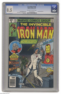 Iron Man #125 (Marvel, 1979) CGC VF+ 8.5. John Romita Jr. art. Ant-Man appearance. Overstreet 2004 VF 8.0 value = $5; VF...
