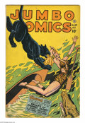 Golden Age (1938-1955):Adventure, Jumbo Comics #104 (Fiction House, 1947) Condition: VG-. Sky Girl by Matt Baker, with ZX-5 and Ghost Gallery by Jack Kamen. O...