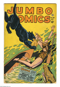 Jumbo Comics #104 (Fiction House, 1947) Condition: VG-. Sky Girl by Matt Baker, with ZX-5 and Ghost Gallery by Jack Kame...