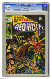 Marvel Spotlight #1 Red Wolf (Marvel, 1971) CGC NM- 9.2 White pages. Neal Adams cover. Syd Shores and Wally Wood art. Ov...