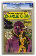 "Silver Age (1956-1969):Mystery, The New Adventures of Charlie Chan #1 (DC, 1958) CGC VG- 3.5Off-white to white pages. ""Scarce"" according to Overstreet. Sid..."