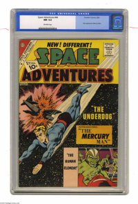Space Adventures #44 (Charlton, 1962) CGC NM 9.4 Off-white pages. First appearance of Mercury Man. Only one other copy o...