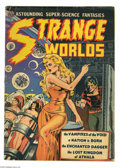 Golden Age (1938-1955):Science Fiction, Strange Worlds #4 (Avon, 1951) Condition: GD. Origin of theEnchanted Dagger. Classic cover by Wally Wood. Wood, Joe Orlando...