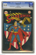 Golden Age (1938-1955):Superhero, Superman #14 (DC, 1942) CGC VG/FN 5.0 White pages. Classic Fred Ray cover. Leo Nowak and John Sikela art. Overstreet 2004 VG...