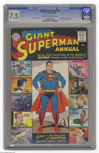 Superman Annual #1 (DC, 1960) CGC VF- 7.5 Cream to off-white pages. Curt Swan cover. First Silver Age D.C. Annual. Two p...