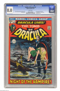 Bronze Age (1970-1979):Horror, Tomb of Dracula #1 (Marvel, 1972) CGC VF 8.0 White pages. Firstappearance of Dracula and Frank Drake. Neal Adams cover. Gen...