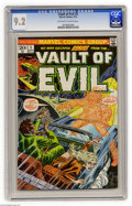 Bronze Age (1970-1979):Horror, Vault of Evil #5 (Marvel, 1973) CGC NM- 9.2 Off-white to whitepages. Overstreet 2004 NM- 9.2 value = $15. CGC census 2/05: ...