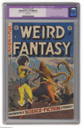 Golden Age (1938-1955):Science Fiction, Weird Fantasy #21 (EC, 1953) CGC Apparent VF+ 8.5 Slight (P)Off-white pages. Frank Frazetta and Al Williamson cover. Willia...