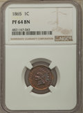 Proof Indian Cents: , 1865 1C PR64 Brown NGC. NGC Census: (17/7). PCGS Population: (22/6). CDN: $400 Whsle. Bid for problem-free NGC/PCGS PR64. M...