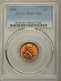 1936 1C MS67+ Red PCGS. PCGS Population: (308/0 and 41/0+). NGC Census: (655/1 and 2/0+). CDN: $150 Whsle. Bid for probl...