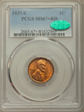 1937-S 1C MS67+ Red PCGS. CAC. PCGS Population: (213/0 and 27/0+). NGC Census: (384/0 and 1/0+). CDN: $240 Whsle. Bid fo...