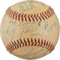 Baseball Collectibles:Balls, 1954 Old Timers Game Signed Baseball from The Enos Slaughter Collection....