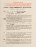 Baseball Collectibles:Others, 1938 Enos Slaughter Signed St. Louis Cardinals Contract from TheEnos Slaughter Collection - Rookie Contract!...