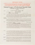 Baseball Collectibles:Others, 1939 Enos Slaughter Signed St. Louis Cardinals Contract from TheEnos Slaughter Collection. ...