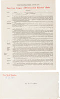 Baseball Collectibles:Others, 1955 Enos Slaughter Signed New York Yankees Contract from The EnosSlaughter Collection. ...