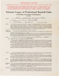 Baseball Collectibles:Others, 1940 Enos Slaughter Signed St. Louis Cardinals Contract from The Enos Slaughter Collection. ...