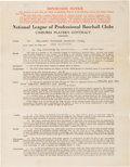 Baseball Collectibles:Others, 1938 Enos Slaughter Signed St. Louis Cardinals Contract from The Enos Slaughter Collection - Rookie Contract! ...