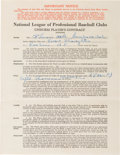 Baseball Collectibles:Others, 1941 Enos Slaughter Signed St. Louis Cardinals Contract from TheEnos Slaughter Collection. ...