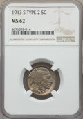 1913-S 5C Type Two MS63 NGC. NGC Census: (197/326). PCGS Population: (427/625). CDN: $850 Whsle. Bid for problem-free NG...