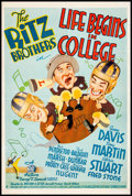 "Movie Posters:Comedy, Life Begins in College (20th Century Fox, 1937) Fine+ on Linen. OneSheet (27"" X 41"") Style B. Comedy. From the Collection..."