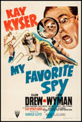 """Movie Posters:Comedy, My Favorite Spy (RKO, 1942) Fine+ on Linen. One Sheet (27.25"""" X 40.75""""). Comedy. From the Collection of Frank Buxton, of w..."""