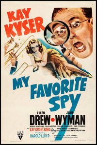 """My Favorite Spy (RKO, 1942) Fine+ on Linen. One Sheet (27.25"""" X 40.75""""). Comedy. From the Collection of Frank..."""