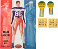 Football Collectibles:Programs, 1942 Green Bay Packers vs. Chicago Bears Program, Pinback Buttons and Ticket Stubs....