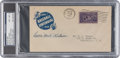 """Autographs:Letters, 1939 Lewis """"Hack"""" Wilson Signed Baseball Centennial First Day Cover, PSA/DNA NM-MT 8...."""