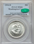 Commemorative Silver, 1954-D 50C Washington-Carver MS66 PCGS. CAC. PCGS Population: (71/1). NGC Census: (35/0). CDN: $400 Whsle. Bid for problem-...