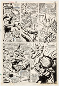 Original Comic Art:Panel Pages, John Buscema and George Tuska Avengers #53 Story Page 18Magneto and Goliath Original Art (Marvel, 1968)....