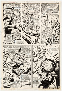 John Buscema and George Tuska Avengers #53 Story Page 18 Magneto and Goliath Original Art (Marvel, 1968)