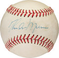 Baseball Collectibles:Balls, 1979 Thurman Munson Single Signed Baseball Signed The Day He Died with Provenance. ...
