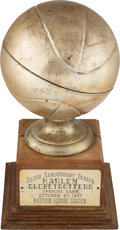 Basketball Collectibles:Others, 1951 Harlem Globetrotter's Opening Game at Madison Square Garden Silver Anniversary Trophy....