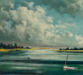 Fine Art - Painting, American, Ralph Carpentier (American, 1929-2016). Be Calmed II, 1971.Oil on canvas mounted to panel. 14-3/8 x 15-7/8 inches (36.5...