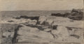 Works on Paper:Drawing, Frank Weston Benson (American, 1862-1951). Cape Elizabeth, Maine. Pencil on paper. 3 x 5-3/4 inches (7.6 x 14.6 cm). Sig...