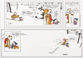 "Memorabilia:Comic-Related, Bill Watterson Calvin and Hobbes ""The Last Sunday"" Print Signed dated 12-31-95 and Letter (Universal Press Syndicate, 1995)...."