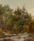 Fine Art - Painting, American:Antique  (Pre 1900), David Johnson (American, 1827-1908). Ramapo, New York, 1874.Oil on canvas. 14-1/2 x 12-1/2 inches (36.8 x 31.8 cm). Ini...