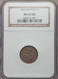 Indian Cents, 1864 1C Bronze MS65 Red and Brown NGC. PCGS Population: (5447/432). MS65....