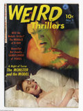 Golden Age (1938-1955):Horror, Weird Thrillers #1 (Ziff-Davis, 1951) Condition: GD/VG. RondoHatton photo cover. Water damage. Overstreet 2004 GD 2.0 value...