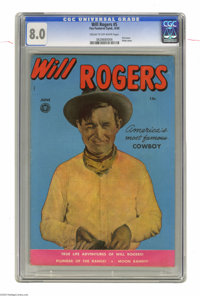 Will Rogers Western #5 (#1) (Fox, 1950) CGC VF 8.0 Cream to off-white pages. First issue of the title. Photo cover. Over...