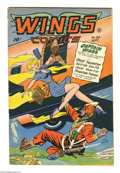 Golden Age (1938-1955):War, Wings Comics #85 (Fiction House, 1947) Condition: VG/FN. BobLubbers cover. Lubbers, George Evans, Maurice Whitman, Al Walke...