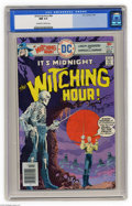 Bronze Age (1970-1979):Horror, Witching Hour #64 (DC, 1976) CGC NM 9.4 Off-white to white pages.Overstreet 2004 NM- 9.2 value = $9. CGC census 2/05: 1 in ...