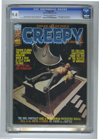Creepy #69 (Warren, 1975) CGC NM 9.4 Off-white to white pages. Berni Wrightson frontispiece. Special Edgar Allan Poe iss...